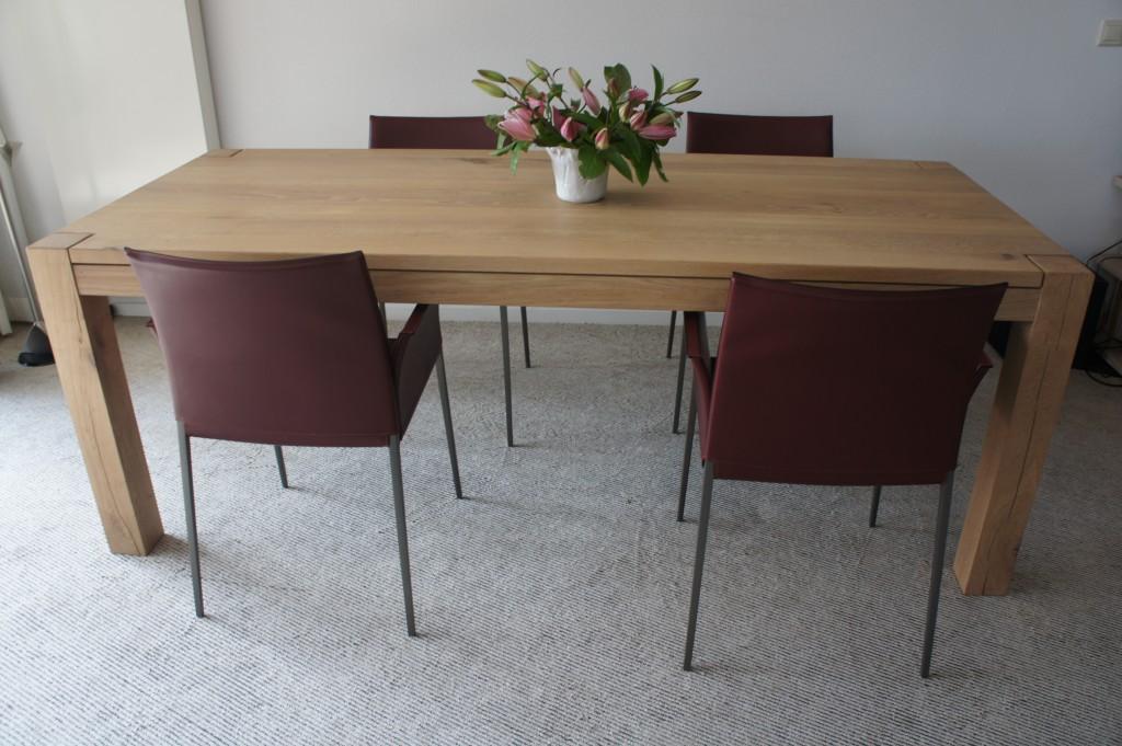 keukentafel groot home eiken tafels rvs meubelen eettafel., Meubels ...